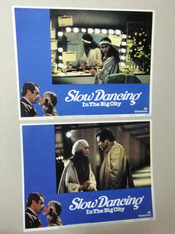 (Set of 7) Slow Dancing in the Big City PAUL SORV 11x14 Org. U.S Lobby Cards 70s
