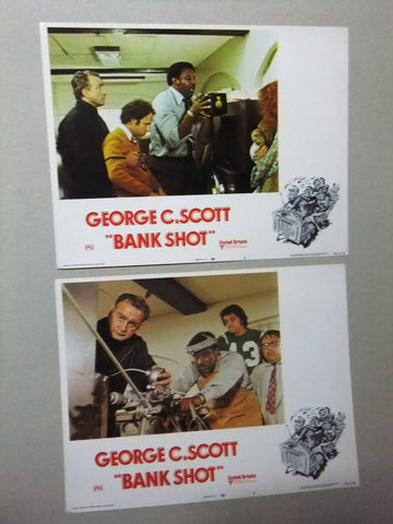 (Set of 8) Bank Shot (George Scott) 11x14 Org. U.S Lobby Cards 70s