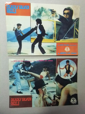 (Set of 6) Deadly Silver Angels (Hui-Shan Yang) Rare Kung Fu Org Lobby Card 80s