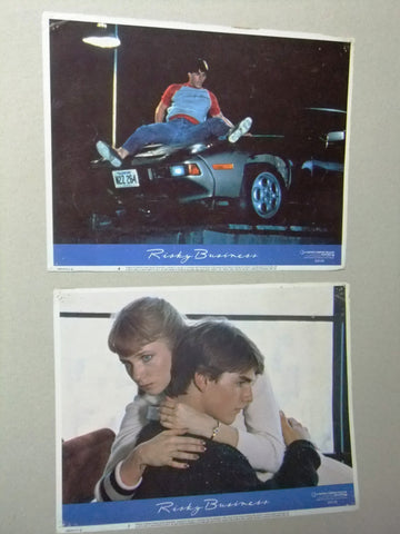 "(Set of 5) RISKY BUSINESS (TOM CRUISE) 11X14"" Original Movie LOBBY CARD 80s"