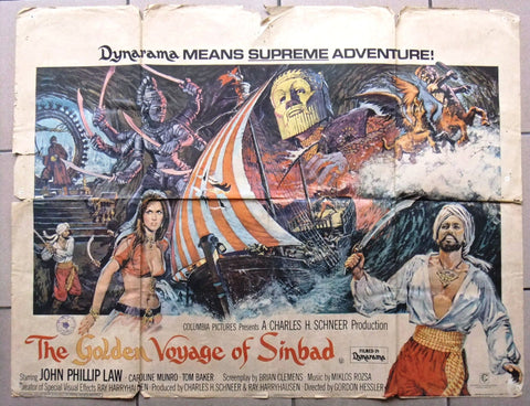 GOLDEN VOYAGE OF SINBAD Quad Poster