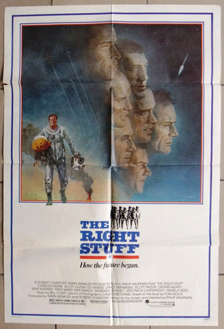 "RIGHT STUFF {DENNIS QUAID} 27""x41"" Original Movie Poster 80s"