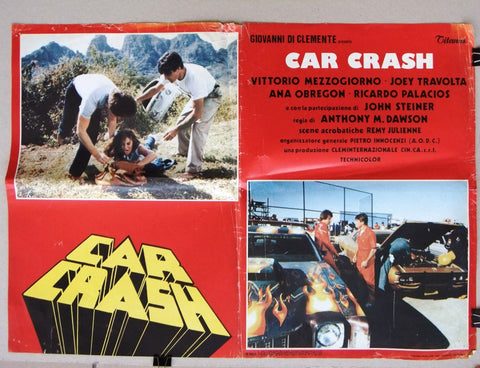 (Set of 7) Car Crash (Vittorio Mezzogiorno) Italian Film Lobby Card 80s