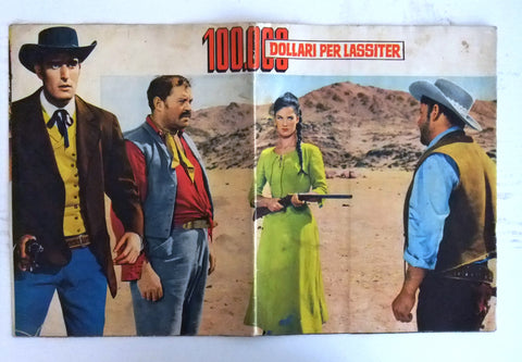 100.000 DOLLARI PER LASSITER italian Original Movie Program 60s