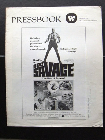 Doc Savage (Ron Ely) Original Movie Pressbook 70s