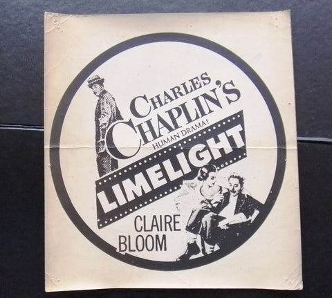 Limelight (Charlie Chaplin) Original Movie Flyer 70s