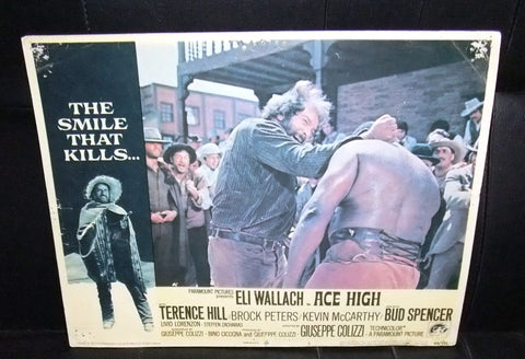 "(Set of 5) Ace High {TERENCE HILL & BUD SPENCER} 14x11"" Original Lobby Cards 60s"