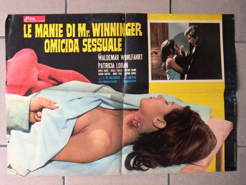 (Set of 9) LE MANIE DI MR WINNINGER OMICIDA SESSUALE Italian Film Lobby Card 70s