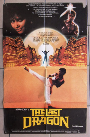 "The Last Dragon (Berry Gordy) 26""x38"" Original Movie Poster 1980s"