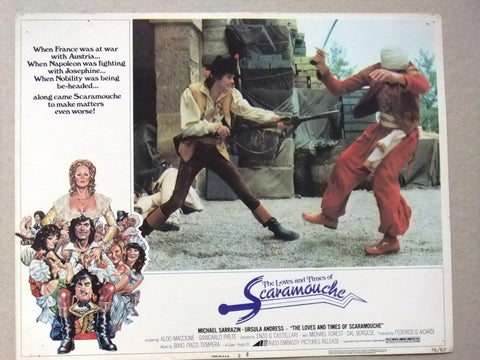 {Set of 7} Loves and Times of Scaramouche, URSULA ANDRESS U.S Lobby Cards 70s