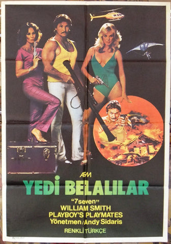 Yedi Belalilar, Seven {William Smith} Turkish Original Movie Poster 70s