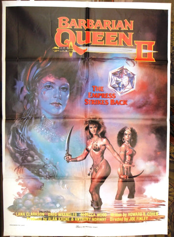 Barbarian Queen 2: The Empress Strikes Back Original Lebanese Movie Poster 90s