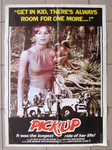 "Pick-Up (Jill Senter) 27x39"" Original Lebanese Movie Poster 70s"