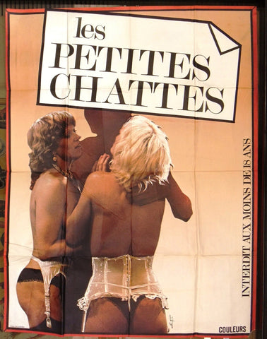 "Les Petites Chattes 46""x61"" French Movie Original Poster 70s"