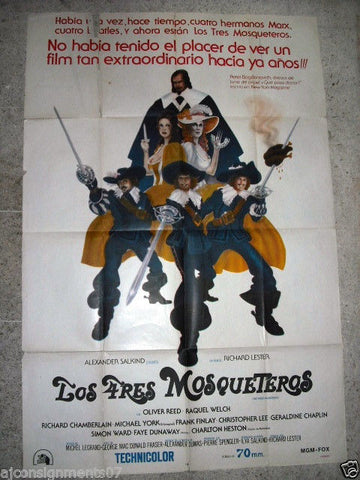 Three Musketeers Original Vintage Argentinean Film Poster 70s