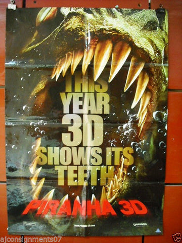 Piranha 3D (Richard Dreyfuss) Original 40x27 SS Movie Poster 2010