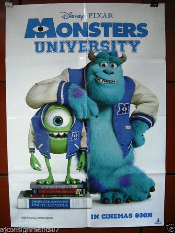 "Monsters University Pixar Disney S.S. NM Original INT. 40""x27"" Movie Poster 2013"