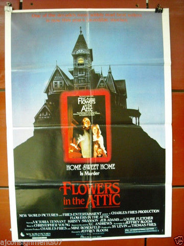 "Flowers in the Attic {Louise Fletcher} Original INT. 40""x27"" Movie Poster 80s"