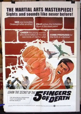 Five Fingers of Death Poster