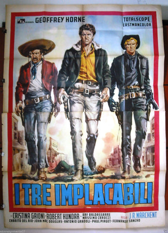 l Tre Implacabili 4F Poster