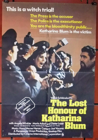 The Lost Honour of Katharina Blum Poster