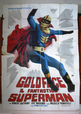 Goldface il Fantastics Superman 4F Poster