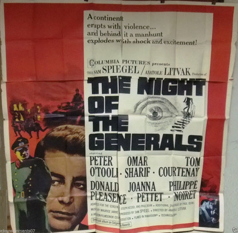 Night of The Generals 6sh Poster