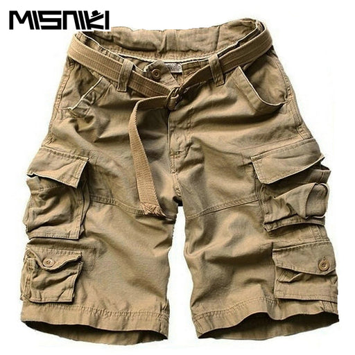 a082888f54 MISNIKI 2018 New Summer Multi-pocket Knee-length Camouflage Men's Shorts