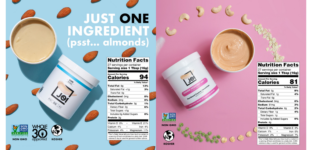 JOI Almond and Creamer Nutritional Panel