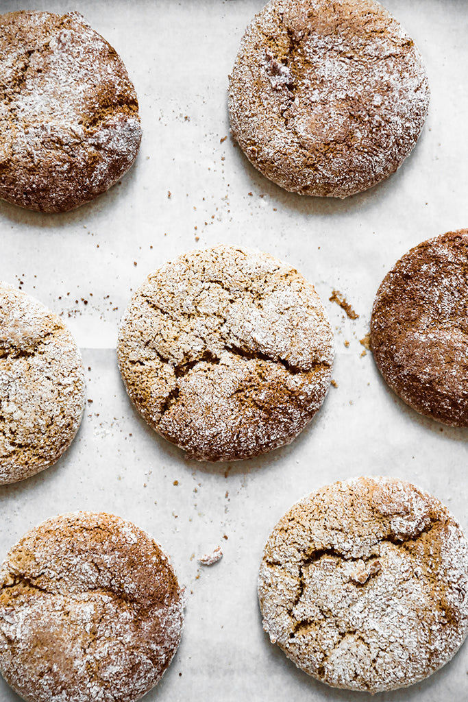 Almond Molasses Crinkle Cookies | Vegan | Gluten Free | Made with JOI