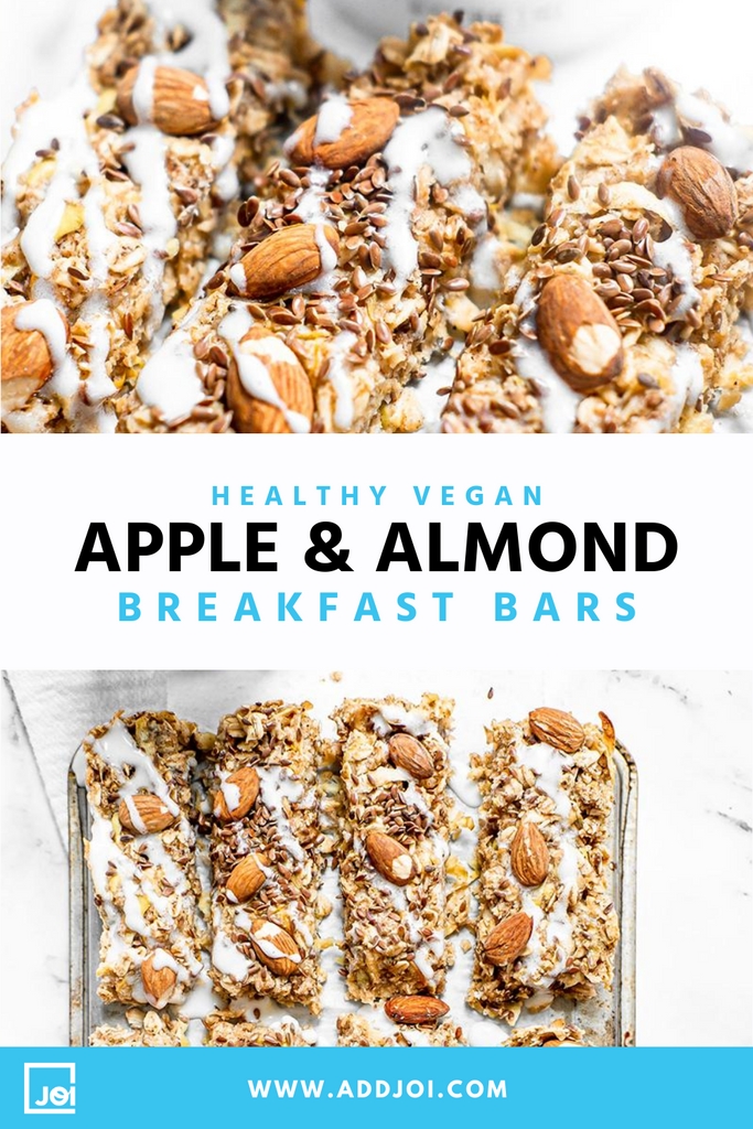 Vegan Apple Almond Breakfast Bars Made With JOI