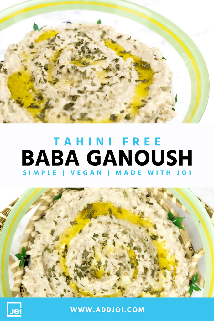 Creamy Vegan Baba Ganoush Made with JOI | Tahini-Free