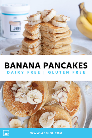 Gluten and Dairy Free Banana Pancakes | Made with JOI | Vegan Recipe