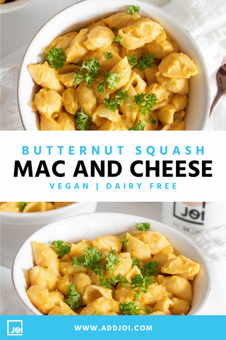 Vegan Butternut Squash Mac and Cheese | Made with JOI
