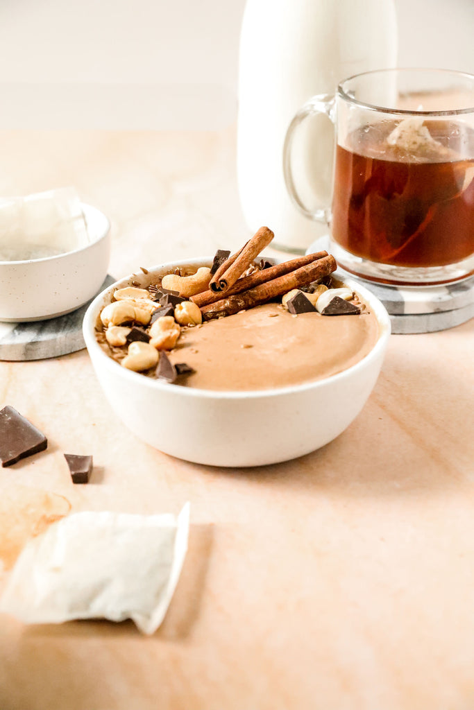 Chocolate Chai Smoothie Bowl Recipe Made with JOI