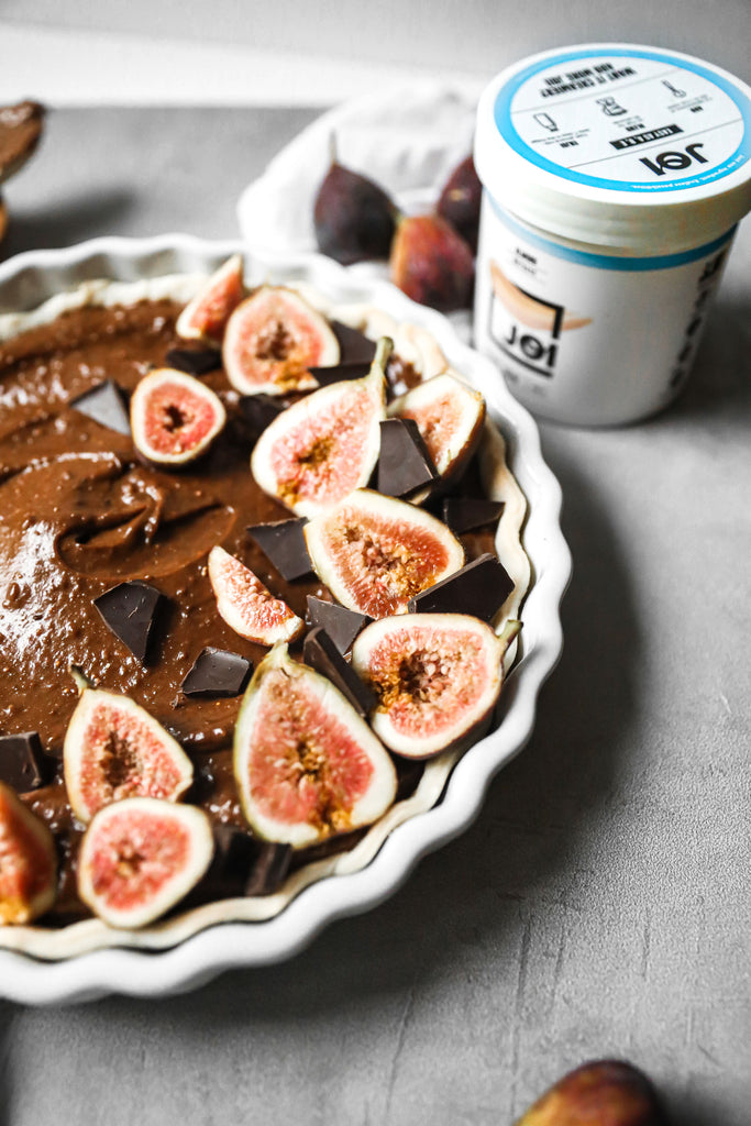 Vegan Chocolate Fig Tart Recipe Made with JOI