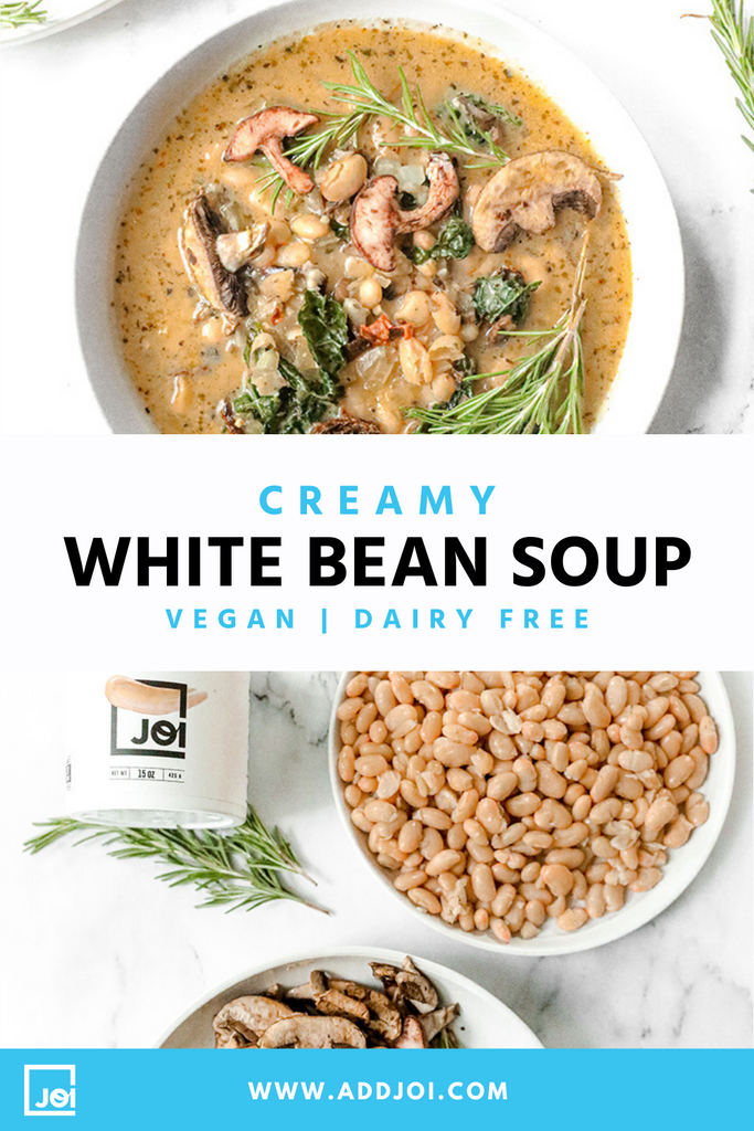 Creamy White Bean Soup | Vegan | Made with JOI