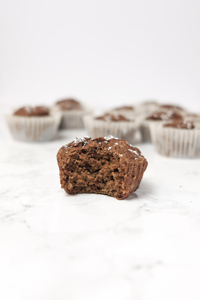 Vegan and Dairy Free Chocolate Oatmeal Muffins