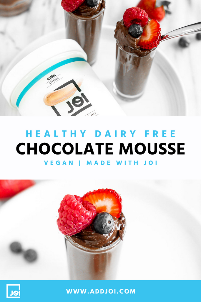 Healthy Dairy Free Chocolate Mousse Made with JOI