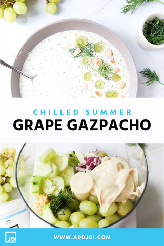 Chilled Green Grape Gazpacho for Summer | Made with JOI | Vegan Recipe