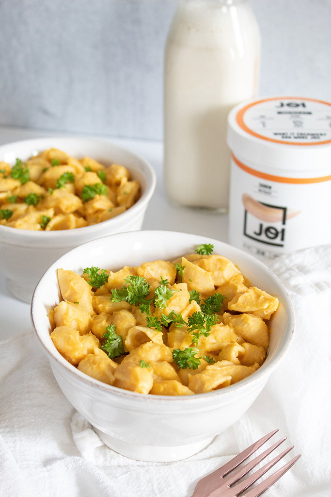 Butternut Mac and Cheese made with JOI