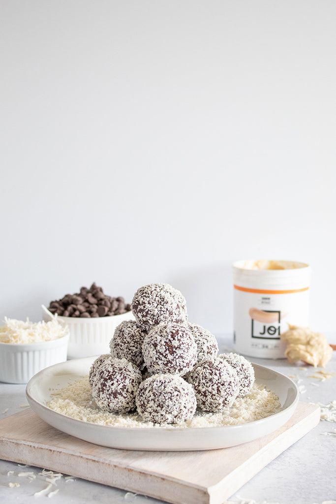 5-Ingredient Vegan Chocolate Coconut Truffles | Made with JOI