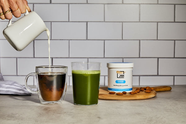 JOI Email Sign Up Image - Plant milk, Matcha and Coffee