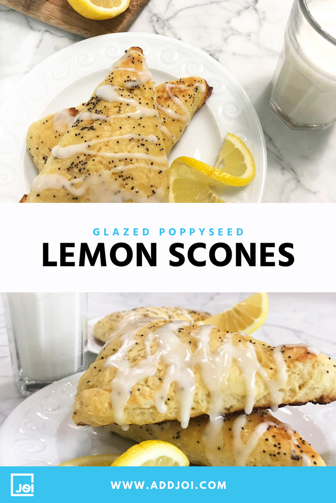 Glazed Lemon Poppy Scones Made with JOI are Your Next Just-Sweet-Enough Procrastibaking Project