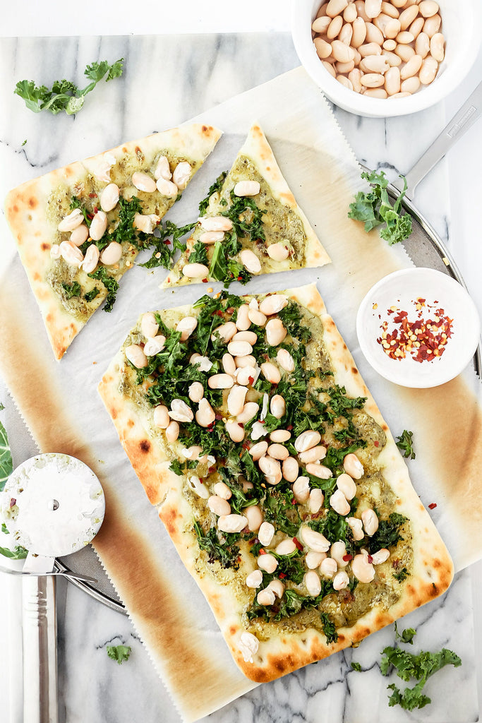 cashew pesto flatbread