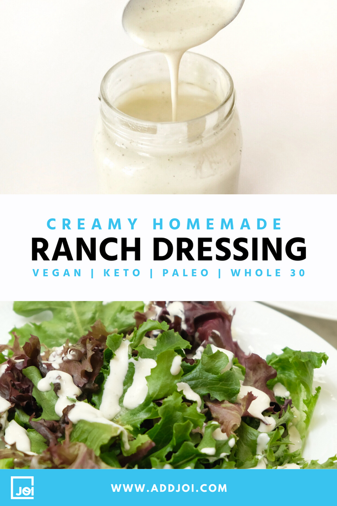 Creamy Vegan Ranch Dressing Made With JOI