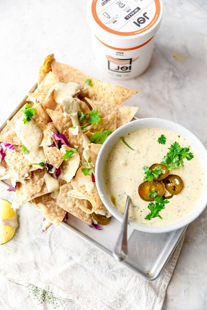 White Vegan Queso Made with JOI