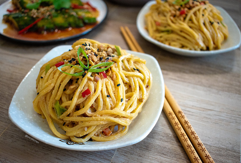 Cold Sesame Cashew Noodles made with JOI