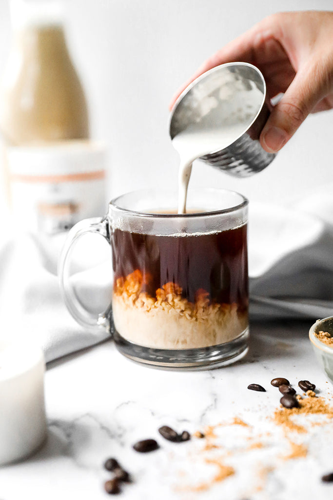 Salted Caramel Coffee Creamer made with JOI