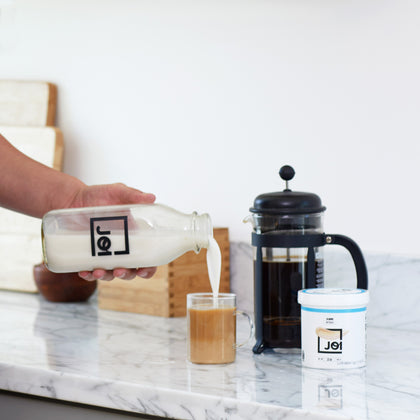 Load image into Gallery viewer, JOI Nutbase | Plant Base - Just One Ingredient, Homemade Plant-Based Milk in Just 30 Seconds. Just add to water and blend. Add your choice of sweetener or flavoring to make it your own - 100% customizable! Have total control over flavor, consistency and calories based on your preference.